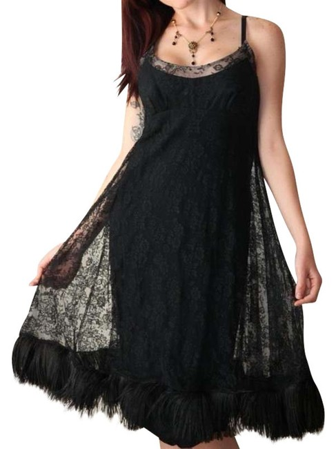Preload https://item5.tradesy.com/images/black-silk-illusion-lace-ostrich-feather-slip-feather-hem-cocktail-knee-length-formal-dress-size-6-s-396399-0-0.jpg?width=400&height=650