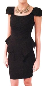 Kardashian Kollection short dress Black Peplum Capsleeve Hourglass on Tradesy