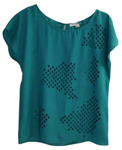 Forever 21 Cutout Teal Top Green