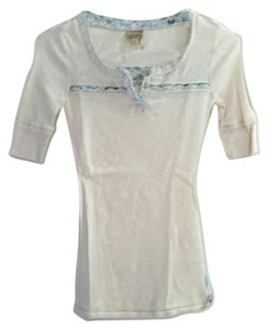Daytrip Paisley Henley Neutral T Shirt Ivory