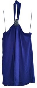 Express Tank Blue Beaded Bra Purple Blue Halter Top