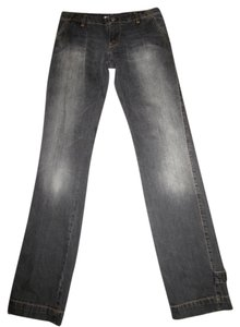 Paul & Joe Wash Cargo Details Distressed Straight Leg Jeans