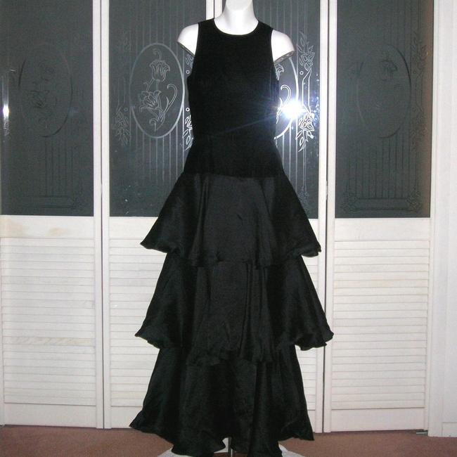 Other Vintage Velvet Organza Ruffle Gown Vintage Ruffled Maxi Gown Vintage Glam Formal Gown Vintage Ruffled Formal Gown Gown Dress