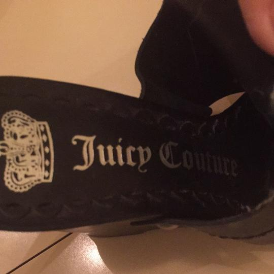 Juicy Couture Studded Leather Chic Edgy Black Wedges