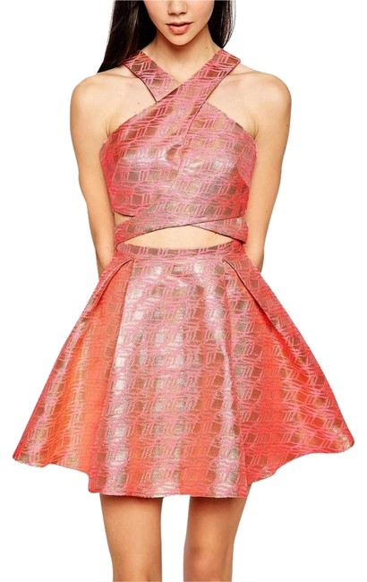 Lashes of London Asos Flared Mini Cut-out Dress