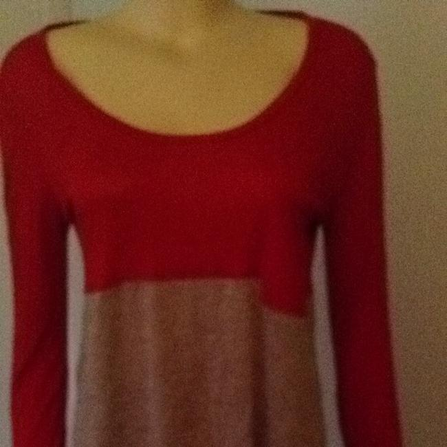 Heather T Shirt Red With Stone