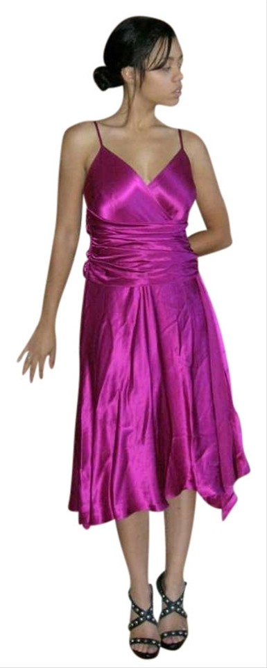 Papell Boutique Pink Lilac Vintage Evening Ruched Silk Charmeuse ...