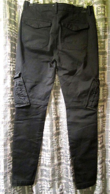 Vince Zipper Ankle Slim Stretch Cargo Jeans