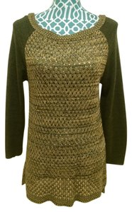 212 Collection Mesh Long Sleeve Sweater