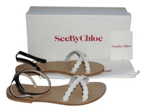 See by Chloé Black/White Sandals