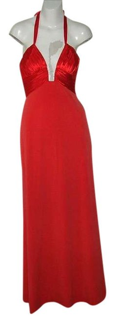 Preload https://img-static.tradesy.com/item/396589/mary-l-couture-red-notch-bodice-halter-gown-long-formal-dress-size-0-xs-0-0-650-650.jpg