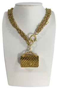 Chanel Chanel Triple Chain Purse Pendant Necklace