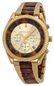 Michael Kors Michael Kors Chronograph Champagne and Tortoise Shell Dial Ladies Watch