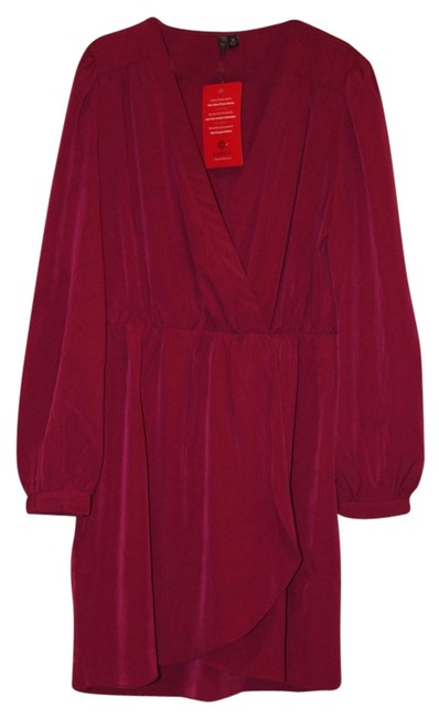 Item - Magenta Paloma Wrap New Above Knee Work/Office Dress Size 6 (S)