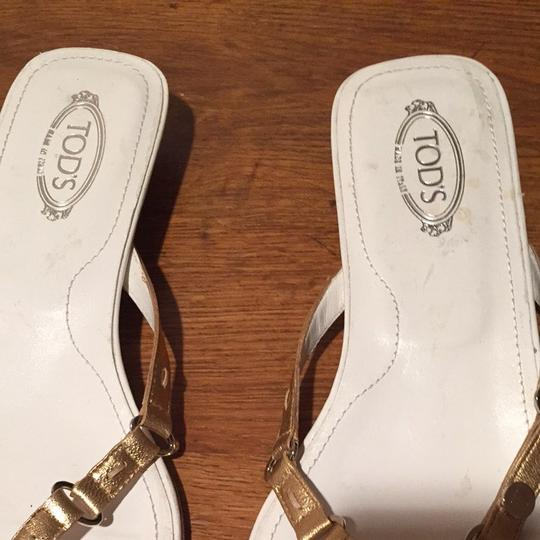 Tod's Gold Sandals