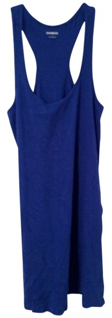 Express short dress Blue Swimsuit Swimwear Coverup Comfortable Colorful on Tradesy