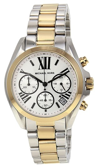 Preload https://item1.tradesy.com/images/michael-kors-silver-gold-and-stainless-steel-ladies-watch-3966475-0-0.jpg?width=440&height=440
