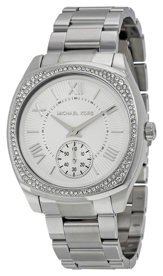 Michael Kors Michael Kors Silver Tone Crystal Pave Ladies Watch