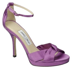Jimmy Choo Satin Sateen Classic Purple Formal