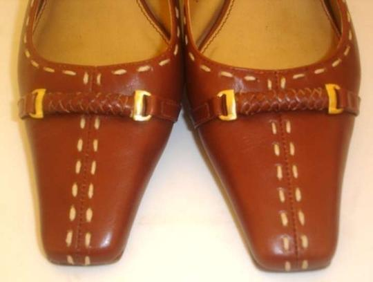 Etienne Aigner Welsh Chestnut Slingbacks Brown Mules