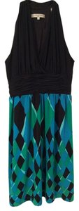Evan Picone Designer Multicolor Pattern Coverage Dress