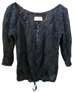 Abercrombie & Fitch Top dark blue