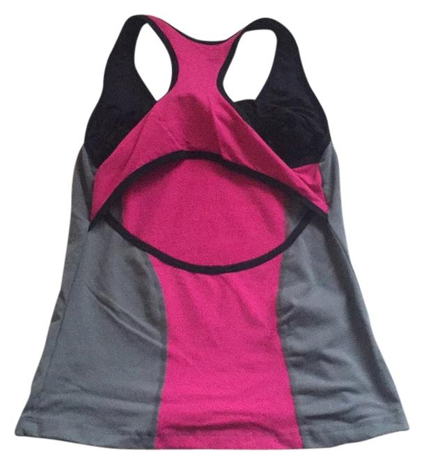 Preload https://item3.tradesy.com/images/bebe-sport-black-pink-and-gray-tank-activewear-top-size-12-l-32-33-396707-0-1.jpg?width=400&height=650