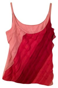New York & Company Gradient Colorful Top Pink