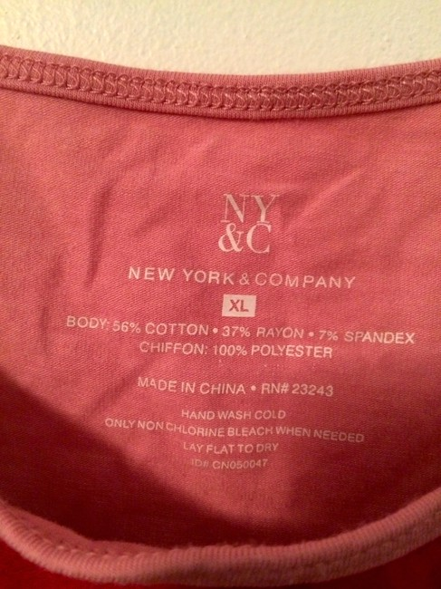 New York & Company Gradient Colorful Camisole Top Pink