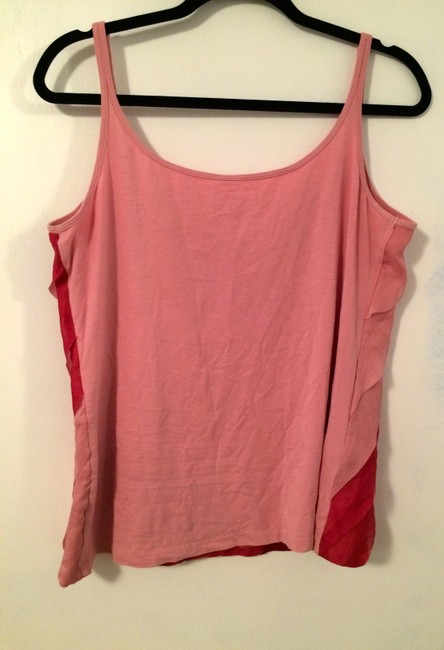 New York & Company Gradient Colorful Sole Top Pink