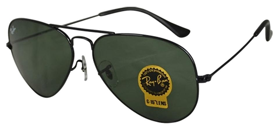 537e99620af Ray-Ban G-15 Dark Green Lens with Black Frame Classic Aviator Rb3025 L2823  Size 58mm Sunglasses