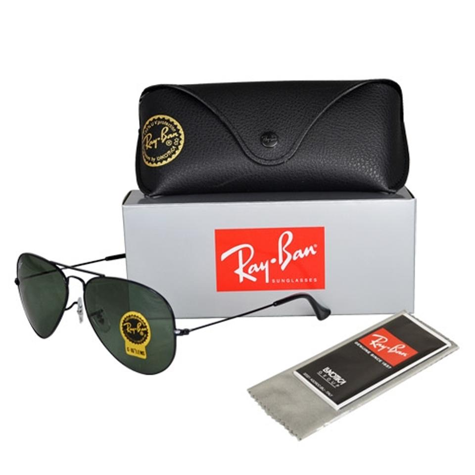ac0668b27e9 Ray-Ban G-15 Dark Green Lens with Black Frame Classic Aviator Rb3025 L2823  Size 58mm Sunglasses - Tradesy