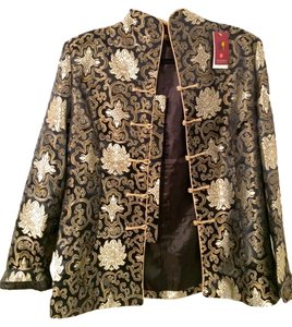 Other Vintage Structured Kimono Asian Eastern Gold Blazer