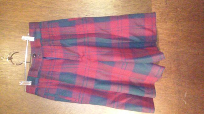 Giorgio Sant'Angelo Skort Burgundy plaid