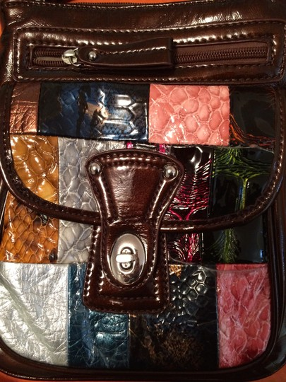 Charming Charlie Shiny Color Colorful Color-blocking Colorblock Cross Body Bag