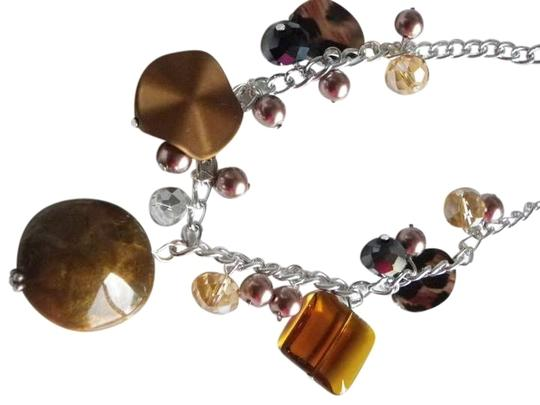Preload https://item5.tradesy.com/images/brown-beads-gemstone-glass-necklace-396779-0-0.jpg?width=440&height=440