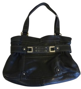 Tignanello Leather Purse Satchel In Black