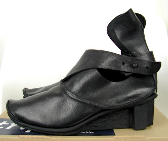 Other Leather European Edgy Black Boots