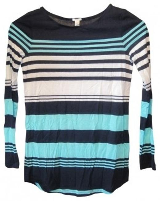 Preload https://img-static.tradesy.com/item/39680/jcrew-blue-stripe-multistripe-boatneck-tee-shirt-size-00-xxs-0-0-650-650.jpg