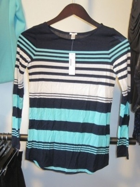 J.Crew T Shirt Blue Stripe