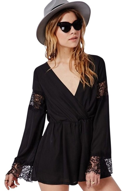Preload https://item3.tradesy.com/images/black-lace-chiffon-xss-romperjumpsuit-size-6-s-3968017-0-0.jpg?width=400&height=650