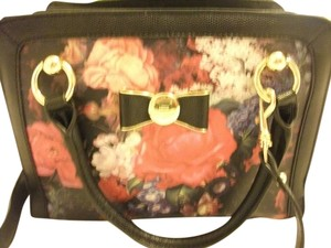 Lulu Guinness Red Rose Print Tote in black/rose/gold
