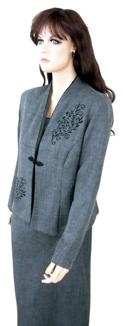 Preload https://item5.tradesy.com/images/dorby-grey-polyester-two-piece-embroidered-jacket-mid-length-workoffice-dress-size-8-m-3968269-0-2.jpg?width=400&height=650