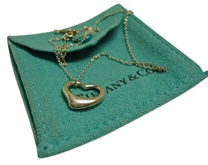 Tiffany & Co. Tiffany & Co. Sterling Silver Elsa Peretti Open Heart Pendant Necklace