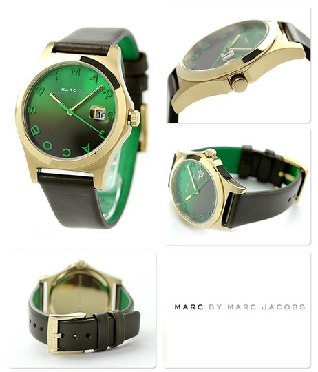 Marc by Marc Jacobs Marc by Marc Jacobs Women's The Slim Olive Green Leather Strap Watch 36mm MBM1320