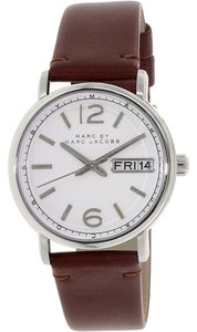 Marc by Marc Jacobs Marc By Marc Women's Fergus MBM8649 Silver Leather Quartz Watch