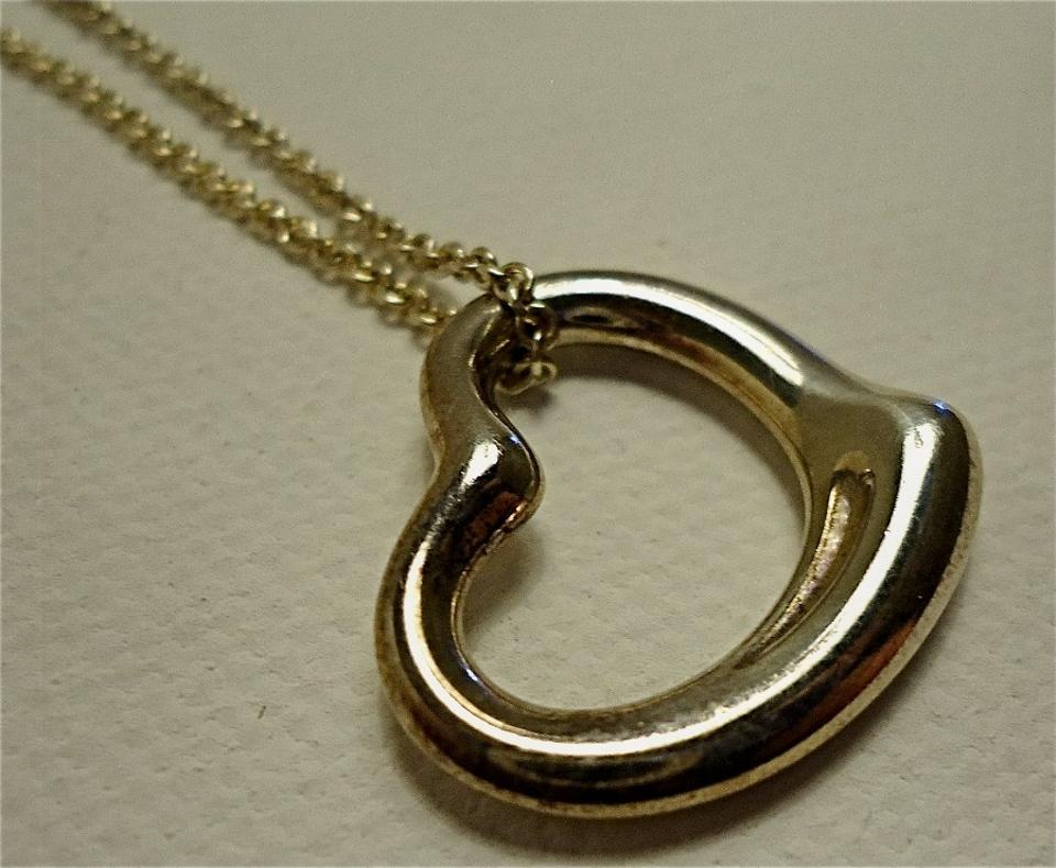 Tiffany co silver sterling elsa peretti large open heart pendant tiffany co silver sterling elsa peretti large open heart pendant necklace tradesy aloadofball Gallery