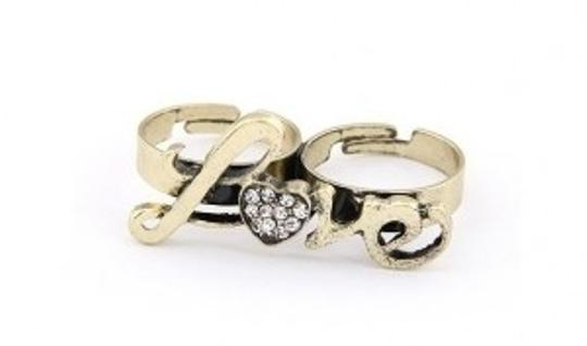 All Around Fem Got Love? Double Finger Ring Adjustable