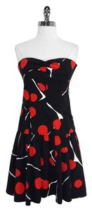 Diane von Furstenberg short dress Print Cotton Strapless on Tradesy
