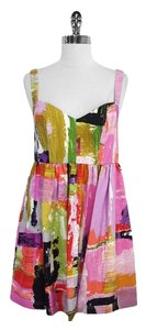 Ali Ro short dress Print Silk Sleeveless on Tradesy